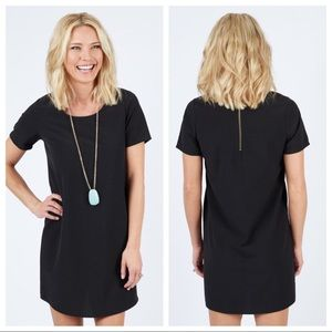 Everly Kendra Zip Back Tunic Dress Swing Black